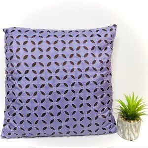 Pier 1 Lavender and Chocolate Square Accent Pillow